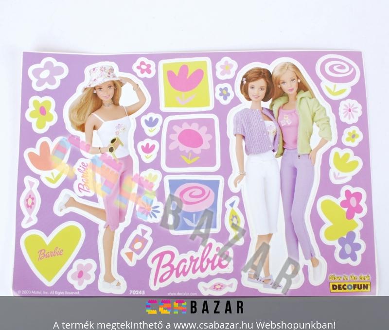 Fali matrica Sötétben világító Barbie - Csabazár webáruház