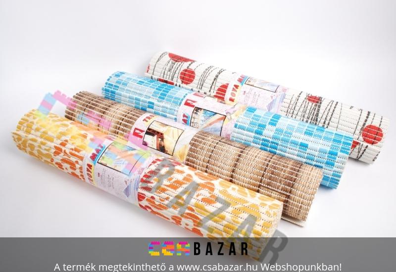 Színes, mintás PVC, szivacs szőnyeg 2mx65cm - Csabazár webáruház