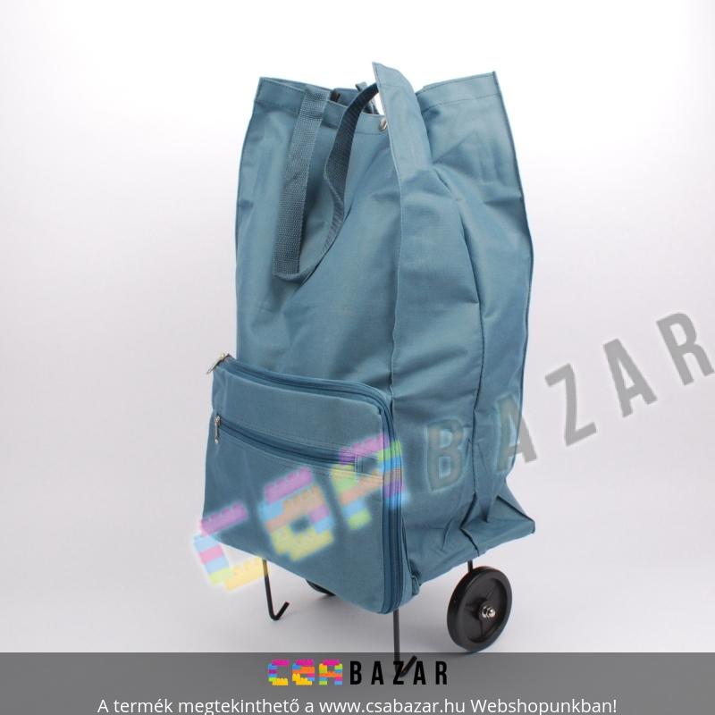3070d1faacbe Összecsukható kerekes bevásárló táska, cipzáros zsebekkel - Csabazár  webáruház