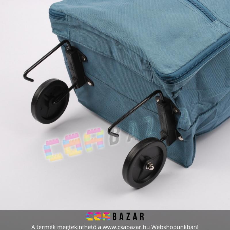 2ddfc5b4357f Összecsukható kerekes bevásárló táska, cipzáros zsebekkel - Csabazár ...
