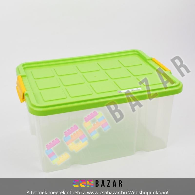Műanyag tárolódoboz fedéllel 15L 40x30 cm Csabazár webáruház