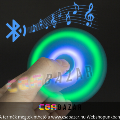 Fidget Spinner ujjpörgettyű Bluetooth LED -es